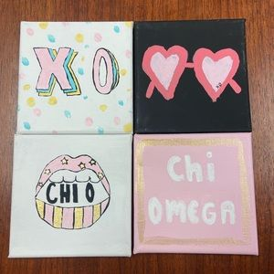 Chi Omega Canvas Paintings